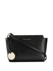 Emporio Armani Logo Charm Shoulder Bag Black