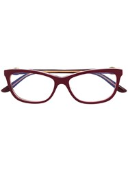 Cartier Square Frame Glasses Red
