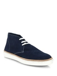 Saks Fifth Avenue Canvas Chukka Sneakers Blue