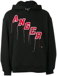 Mr. Completely Embroidered Anger Hoodie Cotton Xl Black