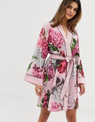 5fe51ed5527b6 Ted Baker B By Palace Gardens Floral Print Kimono In Light Pink