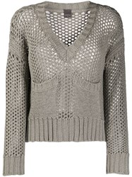Lorena Antoniazzi Open Knit V Neck Jumper 60
