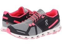 Cloud Grey Neon Pink Women's Running Shoes Gray