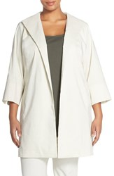 Plus Size Women's Eileen Fisher High Collar Coat