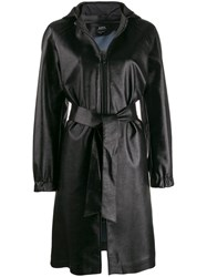 A.P.C. Hooded Trench Coat Black