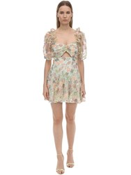 Alice Mccall Sequined Lace Mini Dress Yellow