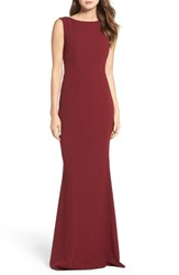 Katie May Women's Drape Back Crepe Gown