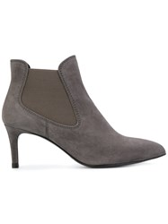 Pedro Garcia Engel Boots Women Leather Suede 36 Grey