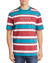 Guess Peer Striped Tee Green White Red