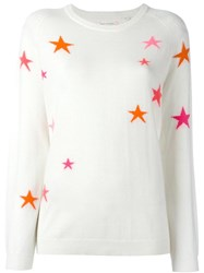 Chinti And Parker 'Star' Slouchy Jumper White