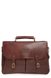 Men's Barbour Leather Briefcase