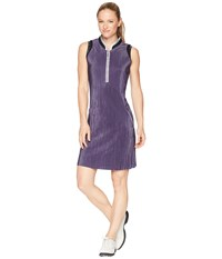 Jamie Sadock Crunchy Textured Dress Aubergine Purple