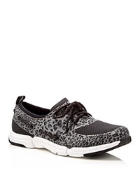 Sperry Ripple Rush Leopard Print Lace Up Sneakers Black Cheetah
