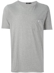 Bassike Patch Pocket T Shirt Grey