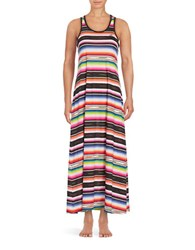 Lauren Ralph Lauren Striped Cotton Nightgown Black Stripe