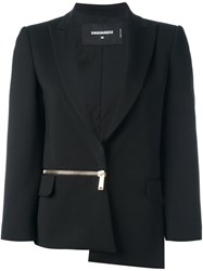 Dsquared2 Side Zip Blazer Black
