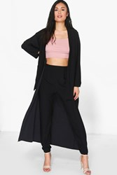 Lacey Longline Duster Black