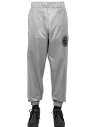 Astrid Andersen Nylon Jogging Trousers Silver Grey