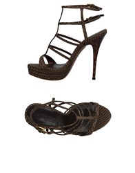 Dibrera By Paolo Zanoli Sandals Dark Brown
