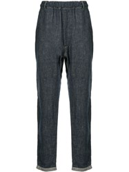 Bassike Straight Leg Denim Trousers Blue