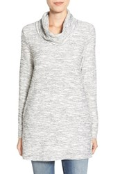 Caslonr Women's Caslon Knit Cowl Neck Tunic Ivory Cloud Tweed Pattern