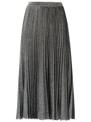 Gig Midi Knitted Skirt Women Polyester Pp Metallic