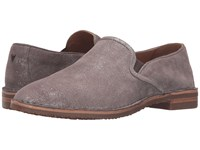 Trask Ali Pewter Italian Metallic Suede Women's Shoes Brown