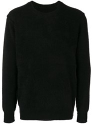 Attachment Brushed Sweater Black