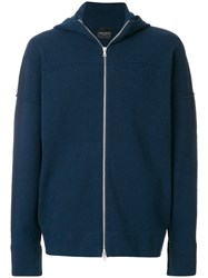 Roberto Collina Relaxed Fit Hoodie Blue