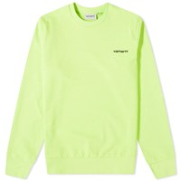 Carhartt Wip Script Embroidered Sweat Green