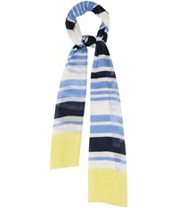 Cc Navy Yellow Border Stripe Scarf