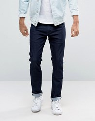 Wrangler Low Rise Slim Leg Jean In Rinse Brushed Wash Navy