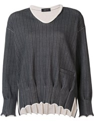 Undercover V Neck Jumper Grey