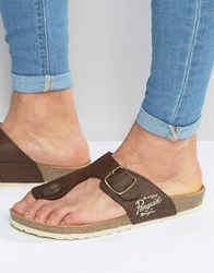 Original Penguin Buckle Sandals Brown