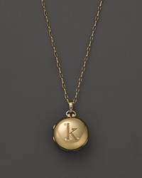Monica Rich Kosann 18K Yellow Gold Petite Diamond Initial Locket Necklace 30
