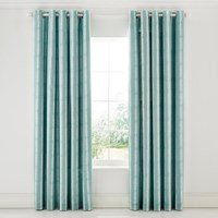 Scion Akira Lined Curtains Teal Turquoise