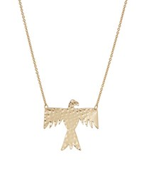 Love By Nashelle Hammered Lucky Phoenix Pendant Necklace Gold