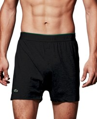 Lacoste Supima Cotton Knit 3 Pack Boxers Black