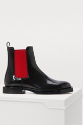 Alexander Mcqueen Patent Ankle Boots 1066 Black Red