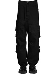 Balenciaga Cotton Gabardine Cargo Pants Black