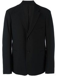 Christophe Lemaire Button Front Blazer Black