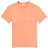 Faherty Slim Fit Garment Dyed Slub Cotton Jersey T Shirt Orange