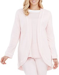 Carole Hochman French Terry Open Cardigan Pink