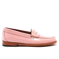 Bass Weejuns Women's Penny Wheel Patent Leather Loafers Bridal Rose Pink