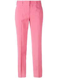 Ermanno Scervino Cropped Trousers Women Spandex Elastane Cupro Viscose 40 Pink Purple