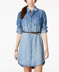 American Rag Denim High Low Shirtdress Only At Macy's