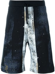 Hood By Air Distressed Shorts Black