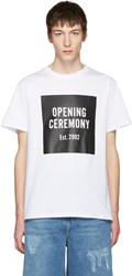 Opening Ceremony White Logo T Shirt