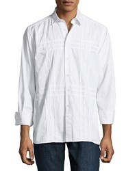 Ike Behar Bodie Clipped Long Sleeve Shirt Men's