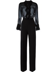 Ermanno Scervino Sheer Top Jumpsuit Black